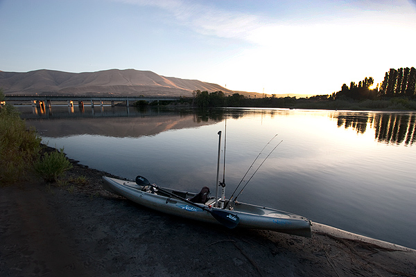 Kayak launch beach at Deschutes River Recreation Area