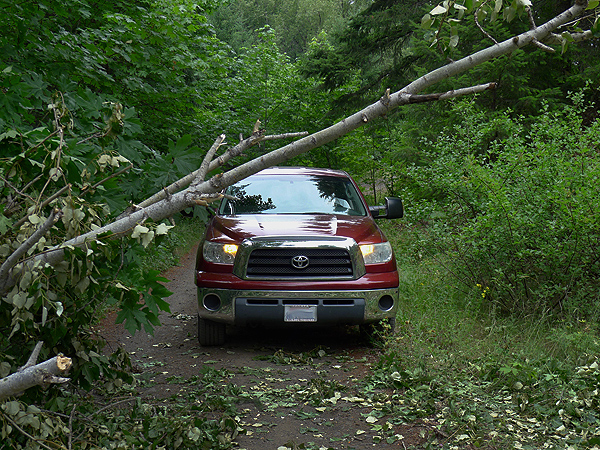 A little problem on the Cascade Mountain backroads