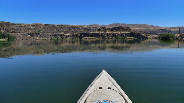 Fishing on Horsethief Lake in southwest Washington