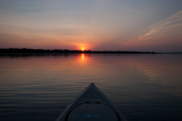 Sunrise on the Columbia River near Irrigon, OR