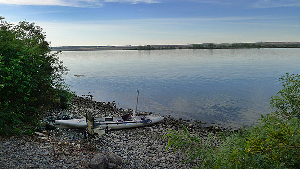 Camping on the Columbia River near Irrigon, OR