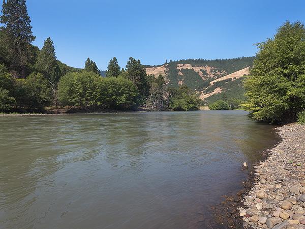 The Klicktiat River in mid summer