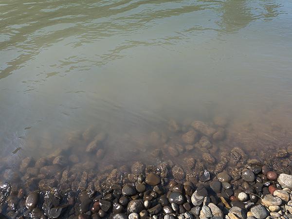 Turbid water from glacier melting