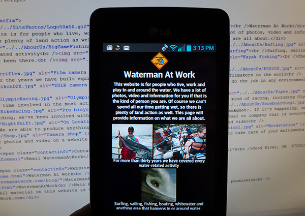 watermanatwork.com mobile website