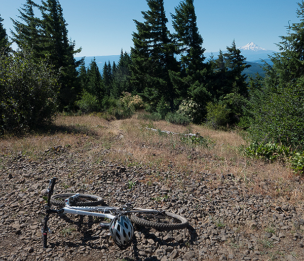 Good view of Mt. Hood from the trailhead