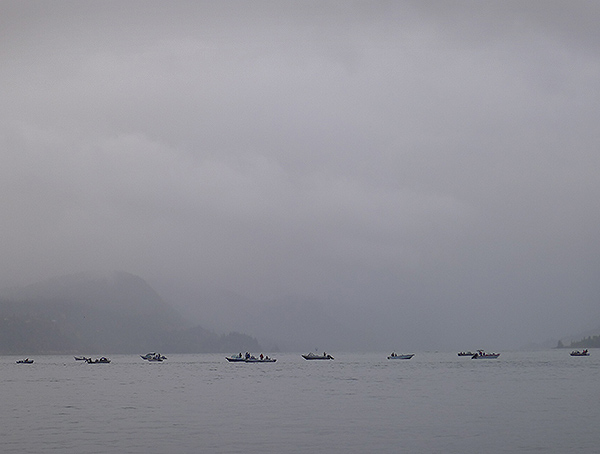 Salmon fishing on the Columbia River