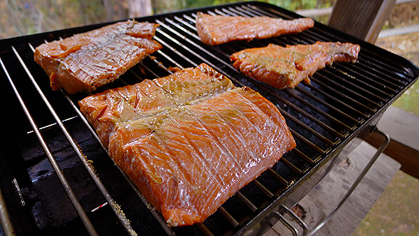 Grilled salmon from the Columbia River