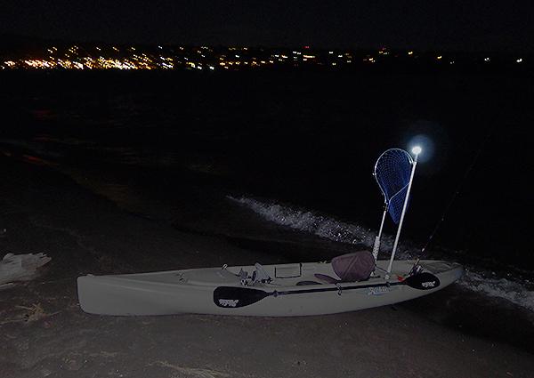 Make a kayak mast light