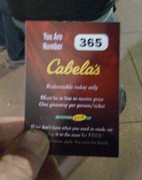 Black Friday at Cabelas