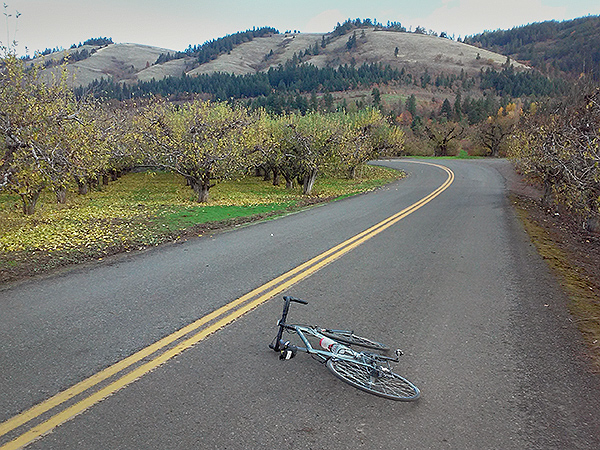 Bicycle riding near Hood River, OR