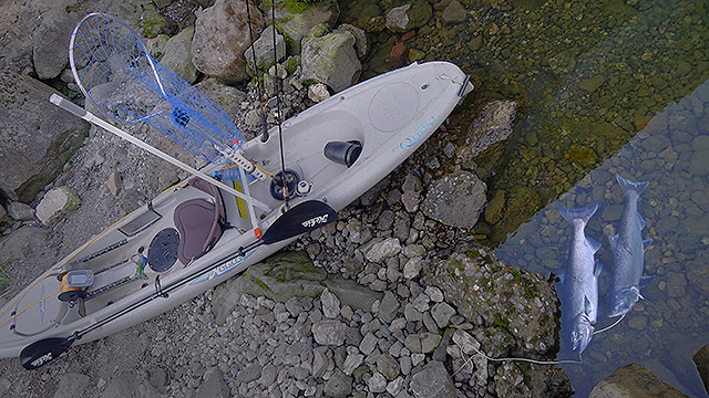 2015 Kayak Salmon Fishing video