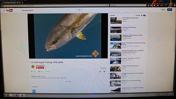 La Jolla Kayak Fishing 1998-2006 video on YouTube