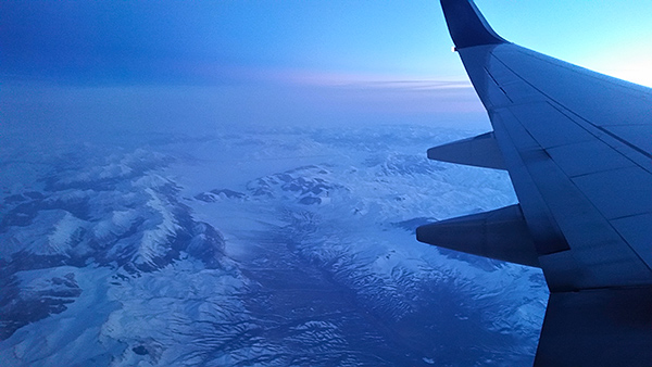 The snowy Rocky Mountains of Idaho