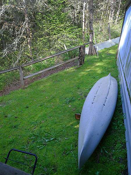 Kayak on standby for the 2017 fishing season