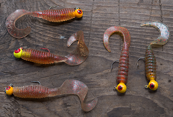 Leadhead grubs for smallmouth bass fishing