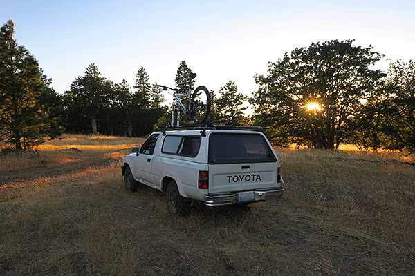 Mountain bike camping in Central Oregon