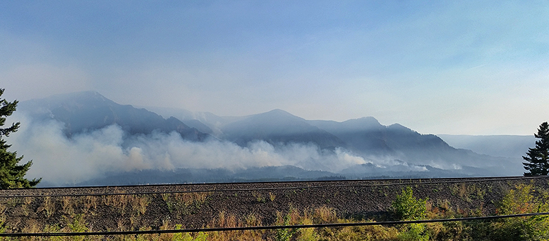 Eagle Creek wildfire near Cascade Locks, OR