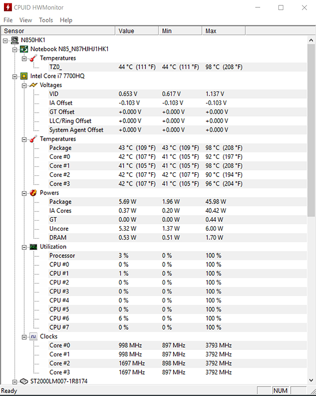 Undervolting the Eluktronics/Clevo N850HK1 to try and reduce maximum CPU temps