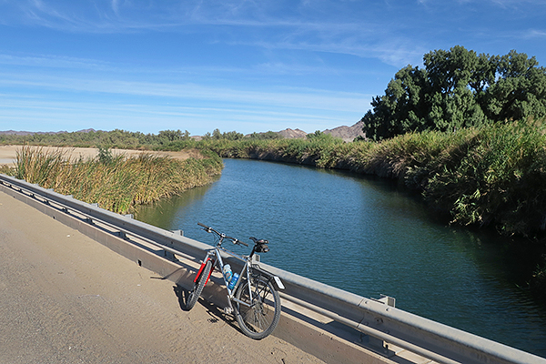 Gravel grinding near the Gila Gravity Canal