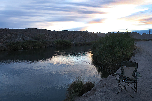 Sunrise on the Gila Gravity Canal near Yuma, AZ