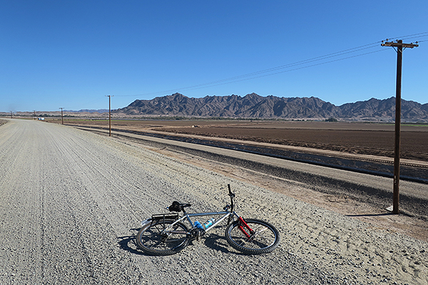 Gravel road riding outside of Yuma, AZ