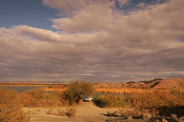Camping at Mittry Lake near Yuma, AZ