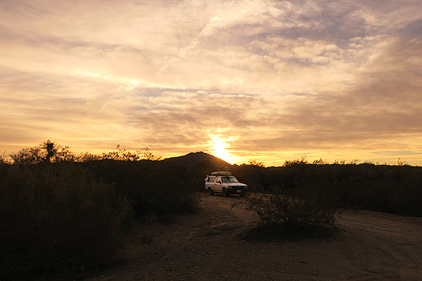 Camping in the desert with the watermanatwork.com kayak fishing crew.