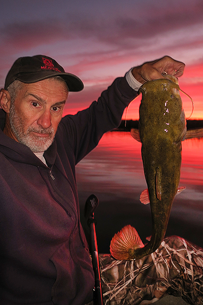 Flathead catfish caught on Mittry Lake by kayak fisherman Ron Barbish.