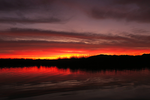 Sunrise at Mittry Lake in southwest Arizona.