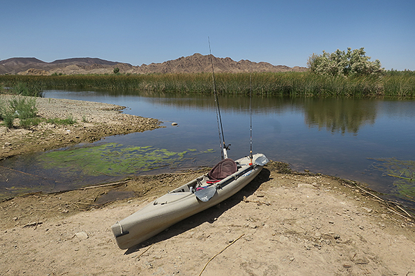 Kayak launch on the lower Colorado River