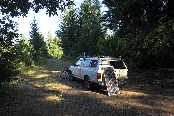 Bike camping in Gifford Pinchot National Forest