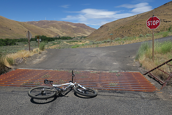 Cattle guards on the roads in eastern Washington