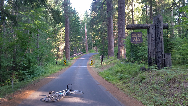 Entering Gifford Pinchot National Forest on the way up the road to Mt Adams