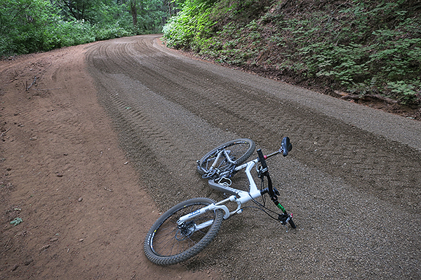 New surface on the Forest Service road