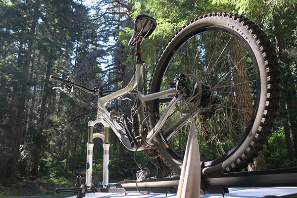 Ready for mountain bike riding in the Cascade Mountains