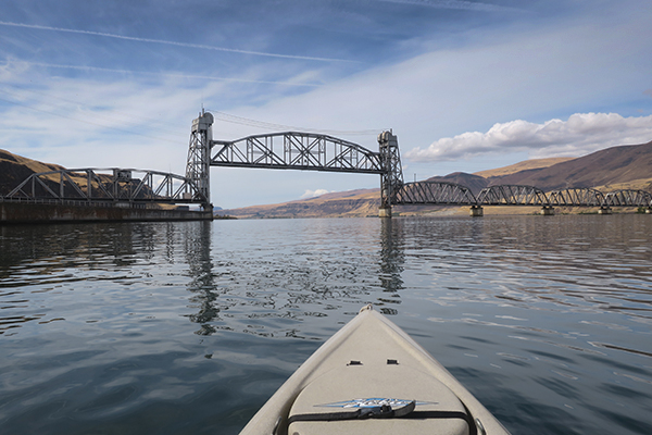 Columbia River railroad bridge