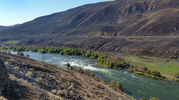 The Deschutes River in eastern Oregon