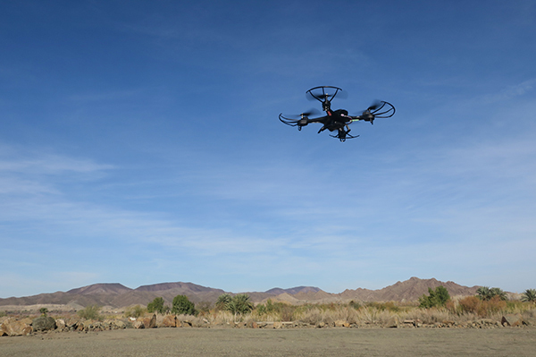 Testing the Holy Stone HS 200 multi-rotor drone in the Arizona desert with watermanatwork.com
