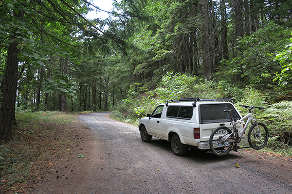Last mountain bike trip to the Cascade Mountains for the Toyota pickup truck