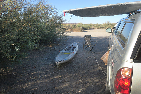 watermanatwork.com kayak fishing camp in the desert southwest