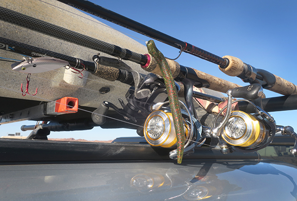 Fishing rods and reels used by watermanatwork.com kayak fisherman Ron Barbish