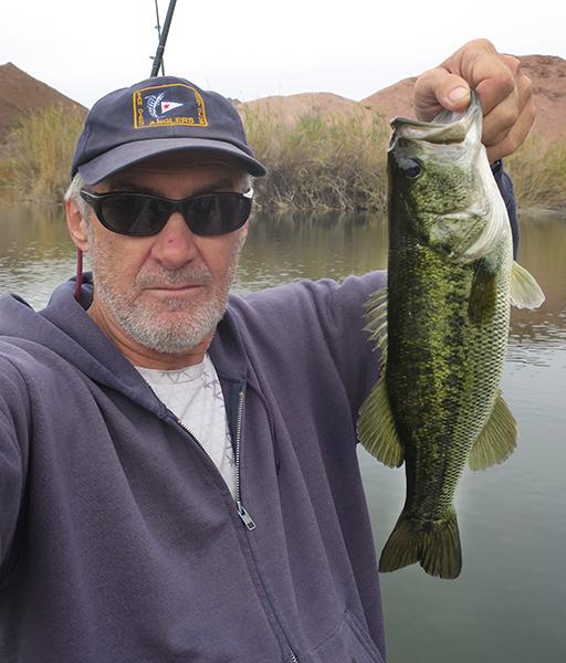 Nice largemouth bass caught by watermanatwork.com kayak fisherman Ron Barbish