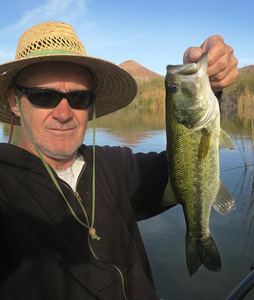 Early morning largemouth bass caught by watermanatwork.com kayak fisherman Ron Barbish