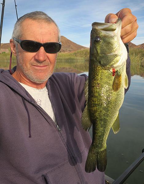 Nice Colorado River largemouth bass caught by watermanatwork.com kayak fisherman Ron Barbish
