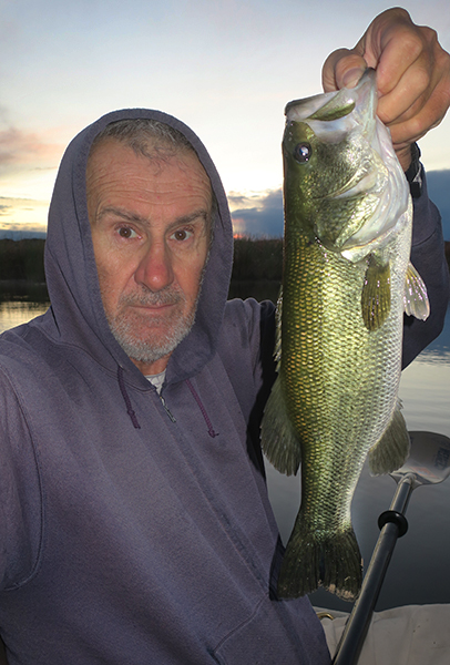 Colorado River largemouth bass caught by watermanatwork.com kayak fisherman Ron Barbish