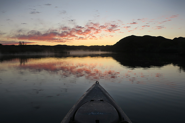 Spring sunrise on the lower Colorado River