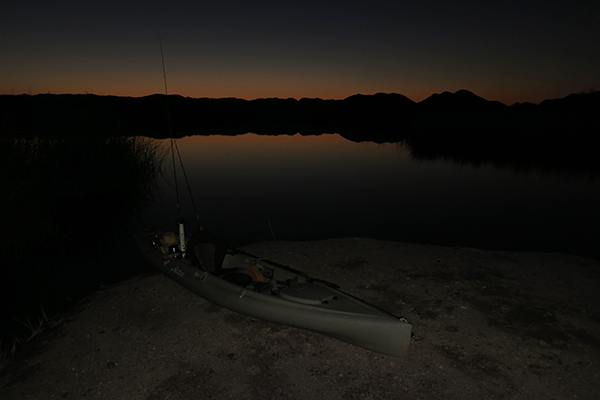 Just before sunrise on the lower Colorado River