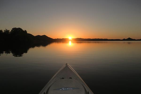 Sunrise over the lower Colorado River