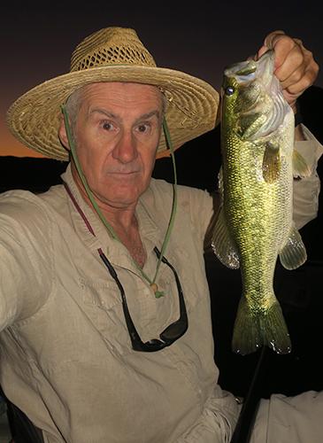 Colorado River largemouth bass caught by watermanatwork.com kayak fisherman Ron Barbish