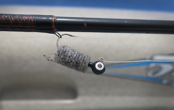 Chewed fishing lure